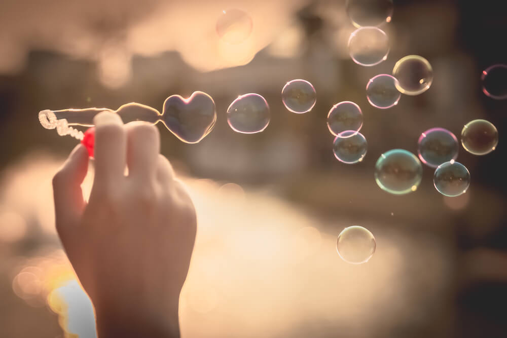 in love bubbles